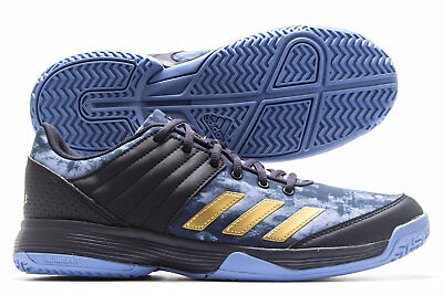 adidas Womens Ligera 5 Ladies Netball Trainers Sports Shoes Blue Footwear