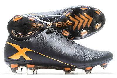 X Blades Mens Micro Jet Firm Ground Rugby Boots Sports Shoes Studs Black