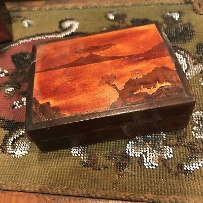 Old Mount Fuji Small Trinket Box Inherited Item No Reserve