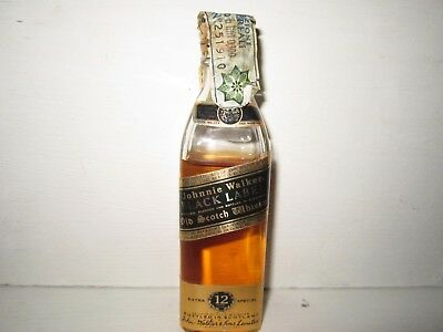 miniature mignon whisky JOHNNIE WALKER 12 years old BLACK LABEL