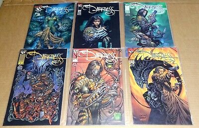 """LOT OF 6 x TOP COW/IMAGE  """"THE DARKNESS COMICS""""  No 2,6,7,8,13,27 NEW/UNREAD NM"""
