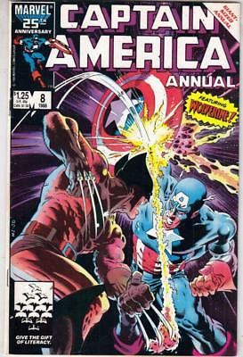 Captain America Annual  # 8  strict  VF+  appearance  Wolverine