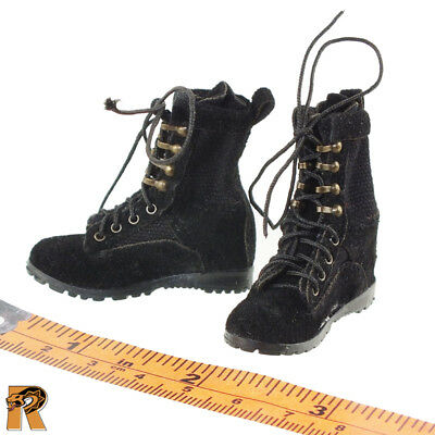 Armed Maid - Female Suede Boots (for Feet) - 1/6 Scale - MC Toys Action Figures