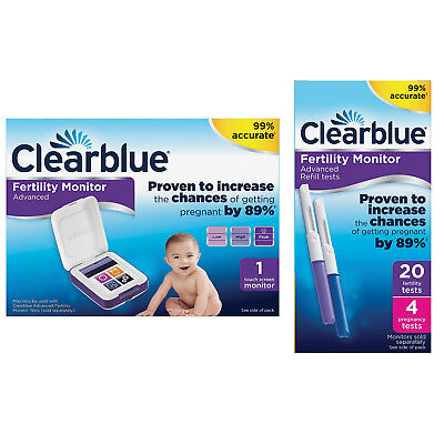 Clearblue Advanced Fertility Ovulation Pregnancy Monitor + Optional Tests