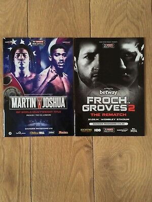 2 x Anthony Joshua Official Fight Programmes Mint Condition