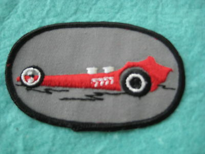 """Vintage  Front Engine Dragster  Patch 4"""" X 2 1/2"""""""