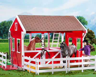 Breyer classics Spring Creek Ccountry stable barn red and white <>< 698