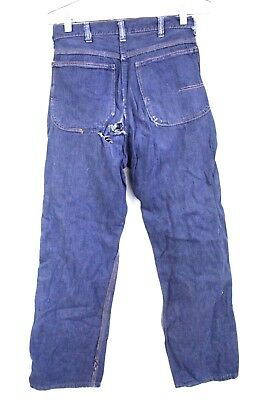 VTG Big Mac Denim Jeans S Mens Big Boys Distressed 26/28 Sanforized Cotton