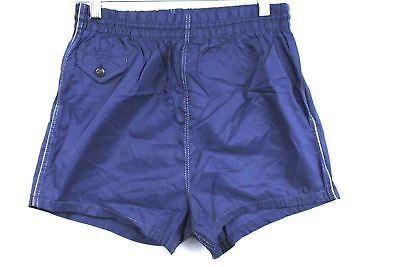 VTG 50s Manhattan Mens Retro Swim Wear Trunks NYLON Blue  Shorts XS 28 Big Boys