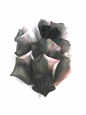 Vintage Organza Millinery  Flowers Variegated Pink & Black Some Solid Never Used