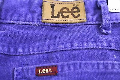 Vintage Lee Jeans Purple Corduroy Womens 1980s High Waist Tapered Leg  29x31