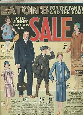 Canada Toronto T Eaton Co Department Store Summer Catalogue 1926