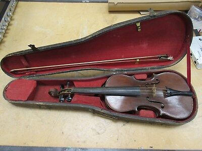 Antique Violin in case 1800's with case no make GBS on case