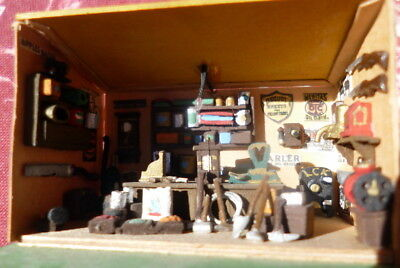 """Super Miniature 1.5"""" Room Box for Dollhouse Old West General Store Diorama"""