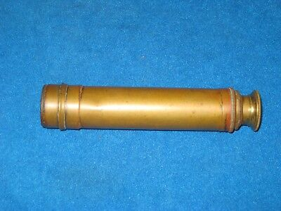 Antique Brass Spyglass Telescope - 3 Draw