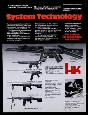 1977 HK 33A2 automatic rifle 33A3 53 submachine gun 21A1 machine gun photo ad