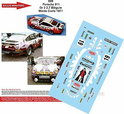 DECALS 1//24 REF 1009 FORD ESCORT RS BEGUIN RALLYE MONTE CARLO 1979 RALLY WRC