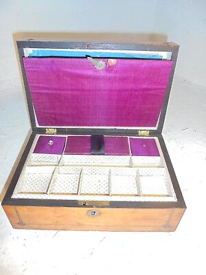 Antique Rosewood Sewing Box   ref 4313