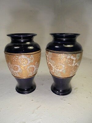 pair of Royal Doulton Vases , Stoneware   ref 4315