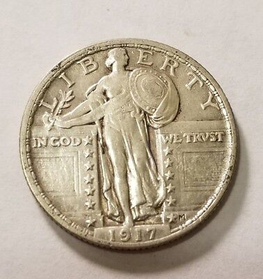 1917 Type 2 Standing Liberty Quarter #4