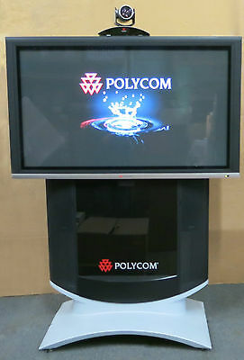 """Polycom HDX 9000 + 50"""" Plasma Monitor Video Conferencing System + Stand + MPTZ-6"""
