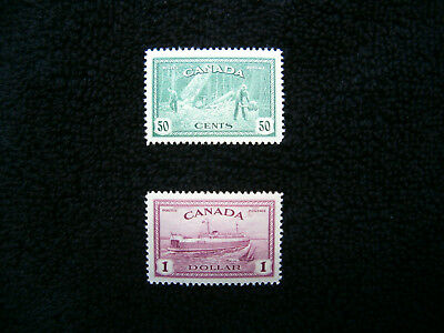 Canada, 1946 George VI Peace Issue 50c and $1 MNH