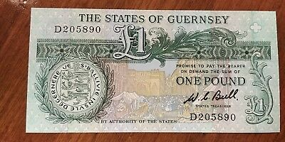 One Pound Note from The States of Guernsey