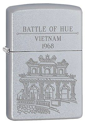 Zippo Lighter: Vietnam War, Battle of Hue - Satin Chrome 77226