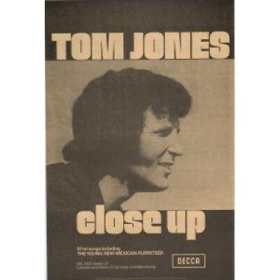TOM JONES Close Up ADVERT UK Decca 1972 Original Newspaper Advert Laminated