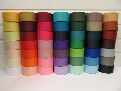 50mm Grosgrain Ribbon 2 metres or 20 metre Roll Double Side Ribbed craft UK VAT