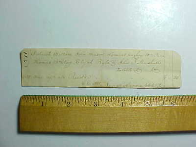 1820 Boone County Kentucky Small Receipt 7 Early Settlers Names Listed Vg+