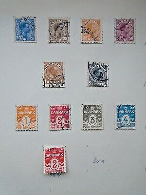 Classic Lot 4 Pages Dk Denmark Danmark Vf Used B27.27 0.99$