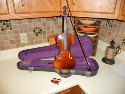 Vintage Violin National Institute of Allied Arts with Case and Bow