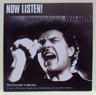 Ross Wilson: Now Listen: The Best Of – 2 Cd Set, Mondo Rock, Daddy Cool, Rare!!!