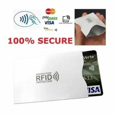 5/10x RFID Blocking Sleeve Credit Card Protector Bank Card Holder for Wallet