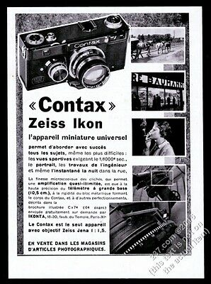 1933 Contax Zeiss Ikon camera photo French vintage print ad
