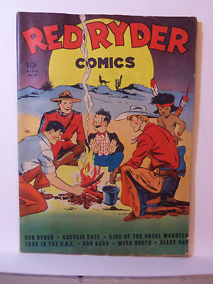 1942 RED RYDER COMICS # 6 1st DELL ISSUE Captain Easy ALLEY OOP Daisy Air Rifles