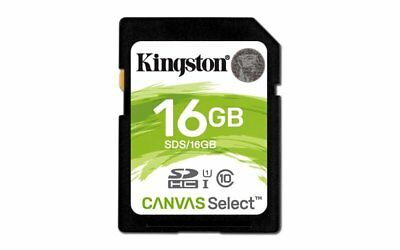Kingston Canvas Select 16GB SD Card UHS-1 Class 10
