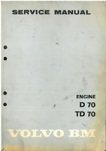 Volvo Bm Engine D70 Td70 Workshop Service Manual - D Td 70