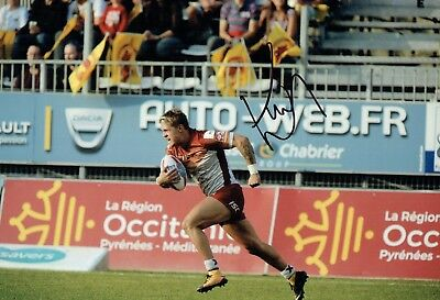 Lewis TIERNEY Rugby League Catalans Dragons Signed Autograph Photo 2 AFTAL COA