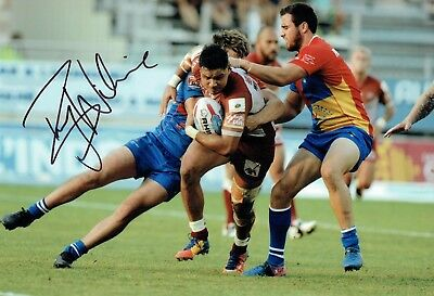 Brayden WILIAME Rugby League Catalans Dragons Signed Autograph Photo 2 AFTAL COA