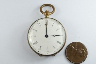 ANTIQUE ENGLISH POCKET WATCH SHAPED COIN PURSE w/ WESTMINSTER ABBEY PAINTING