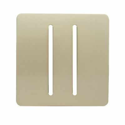 Trendi SPARE FACEPLATE For 2 Gang 2 Way 10Amp Rocker Light Switch Champagne Gold