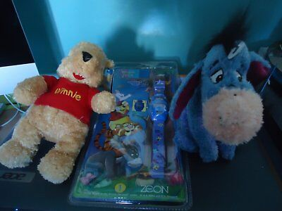 Winnie the Pooh and Eeyore Beanies with free watch BNWT