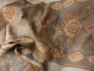 Antique French Fabric Panel