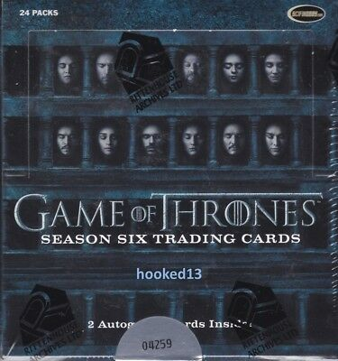 Game Of Thrones Season Six Trading Cards Box Rittenhouse 2017
