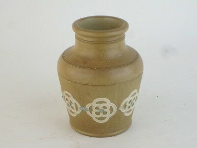28208 Old Vintage Antique Royal Doulton Pot Vase Trinket Jar Pottery Mustard Pot