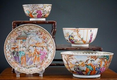 Collection of Antique Chinese Porcelain Famille Rose Bowl Plate QianLong 18th C