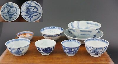 Collect Antique Chinese Japanese Blue and White Tea Bowl Cup Saucer KANGXI 18thC