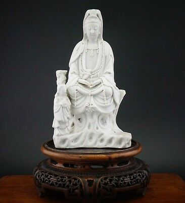 FINE! Antique Chinese Dehua Blanc de Chine Guanyin Immortal KANGXI c1661-1722